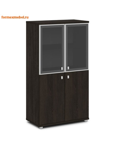 Шкаф для документов ЭКСПРО V-666 средний со стеклом (фото, вид 2)