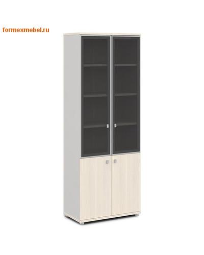 Шкаф для документов ЭКСПРО V-614 со стеклом (фото, вид 1)