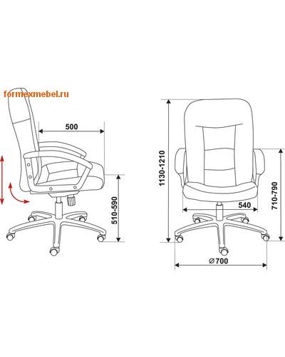 Кресло руководителя Бюрократ T-9908/Walnut (фото, вид 4)
