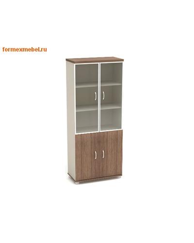 Шкаф для документов К57 со стеклом в алюминиевом профиле (фото, вид 1)