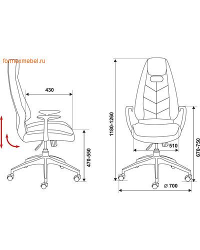 Кресло руководителя Бюрократ ZEN (фото, вид 1)