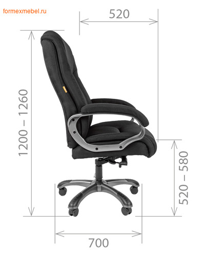 Кресло руководителя Chairman CH-405 PU (фото, вид 3)