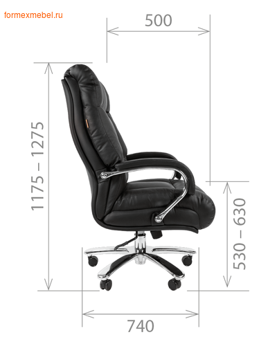 Кресло руководителя Chairman CH-405 L (фото, вид 4)