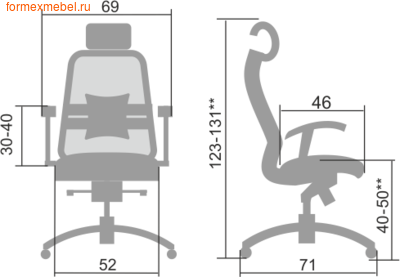 Компьютерное кресло МЕТТА Samurai S-3.04 (фото, вид 1)