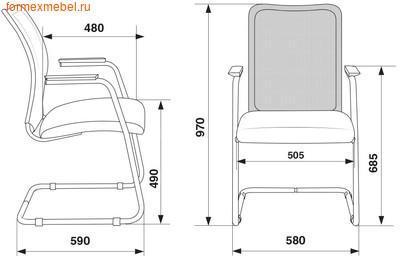 Кресло для посетителей офисное Бюрократ CH-599AV (фото, вид 3)