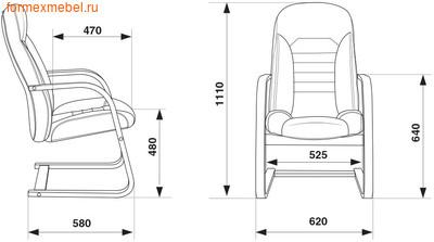 Кресло для посетителей офисное Бюрократ Т-9923Walnut-AV Bl (фото, вид 4)