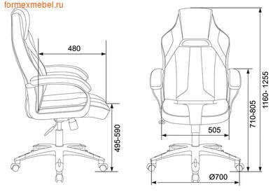 Компьютерное кресло Бюрократ Viking-2 AERO (фото, вид 4)
