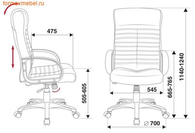 Компьютерное кресло Бюрократ KB-10 Lite (фото, вид 4)