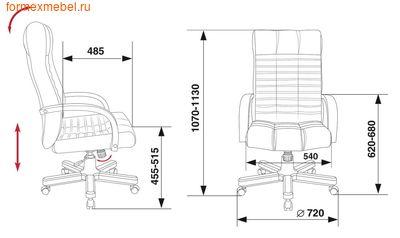 Кресло руководителя KB-10 Walnut (фото, вид 4)