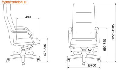 Кресло руководителя Бюрократ T-9927Walnut (фото, вид 4)