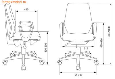 Компьютерное кресло Бюрократ CH-545 (фото, вид 4)