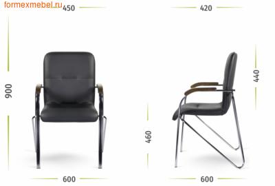 Стул офисный стул для посетителей САМБА Хром (фото, вид 1)
