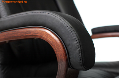 Кресло руководителя Бюрократ T-9925 Walnut Black (фото, вид 5)