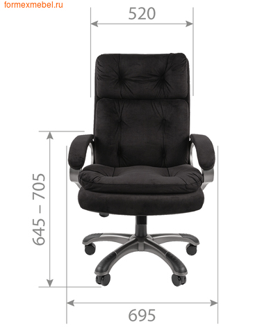 Кресло руководителя Chairman CH-442 (фото, вид 1)