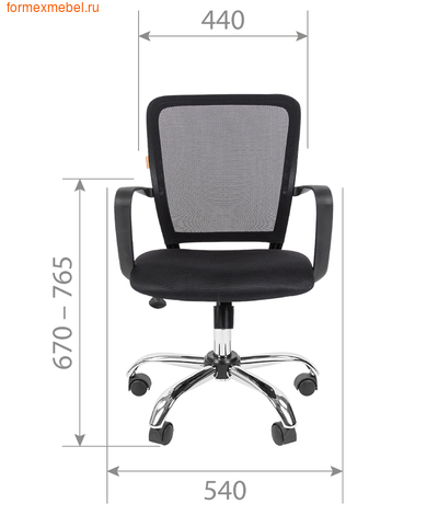 Компьютерное кресло Chairman CH-698 Chrome (фото, вид 2)