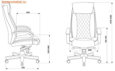 Кресло руководителя Бюрократ T-9924WALNUT (фото, вид 1)