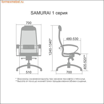Кресло руководителя Samurai Comfort 1.01 (фото, вид 3)