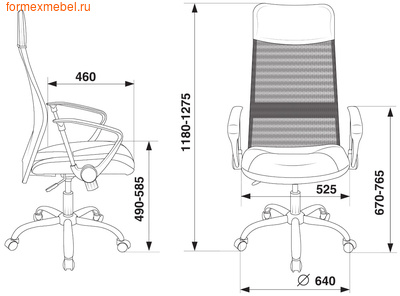 Кресло руководителя Бюрократ CH-600SL\LUX (фото, вид 1)