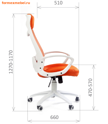 Компьютерное кресло Chairman Ch-840 White (фото, вид 3)