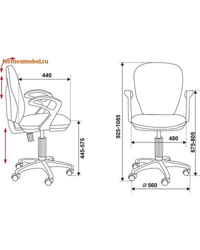 Компьютерное кресло Бюрократ CH-513AXN (фото, вид 3)
