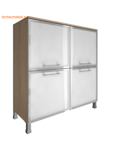 Шкаф для документов квадратный со стеклом LT-SD 4R white (фото)