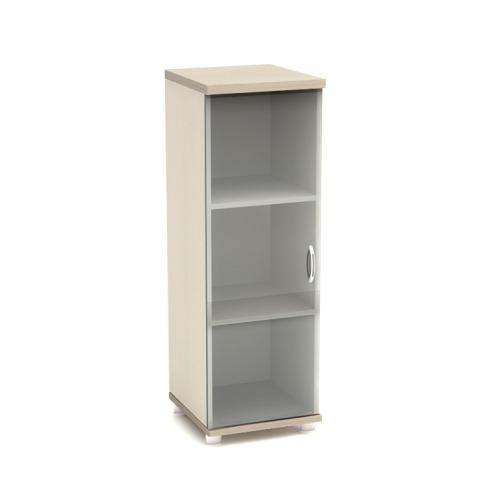 Шкаф для документов К56 узкий средний со стеклом