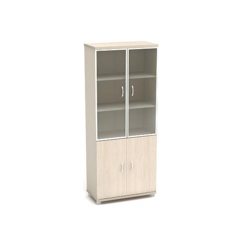 Шкаф для документов К57 со стеклом в алюминиевом профиле