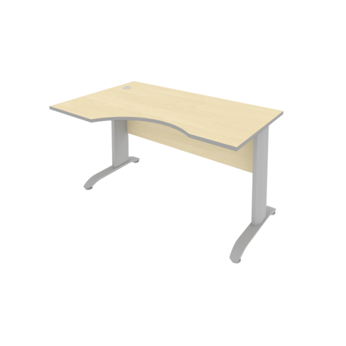 Стол рабочий эргономичный ПЛ.СА-2 Л 140 см