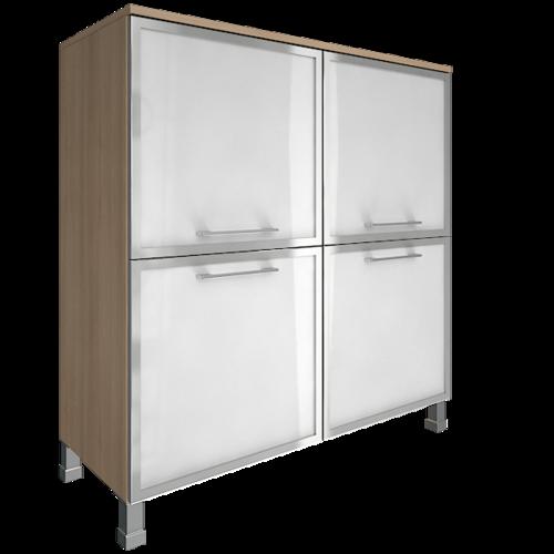 Шкаф для документов квадратный со стеклом LT-SD