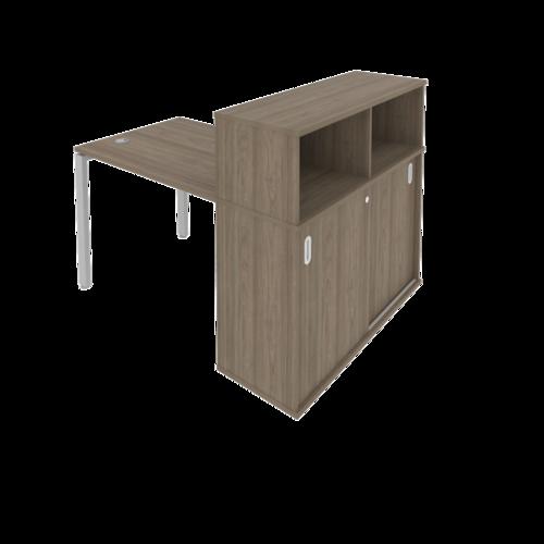 Стол рабочий с опорным шкафом-купе Б.СШК-3.1