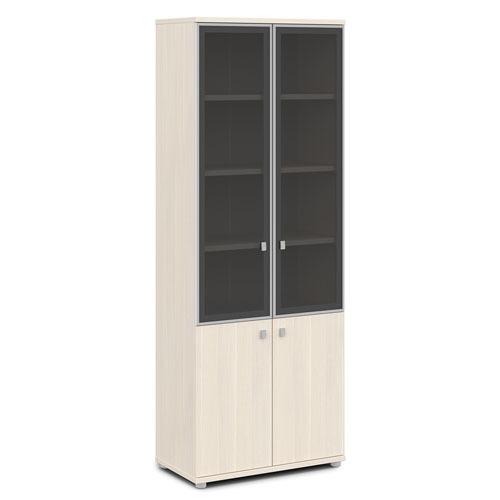 Шкаф для документов ЭКСПРО V-614 со стеклом