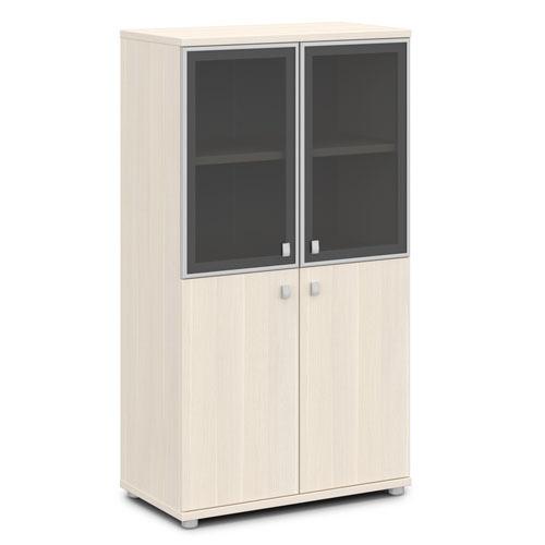 Шкаф для документов ЭКСПРО V-666 средний со стеклом