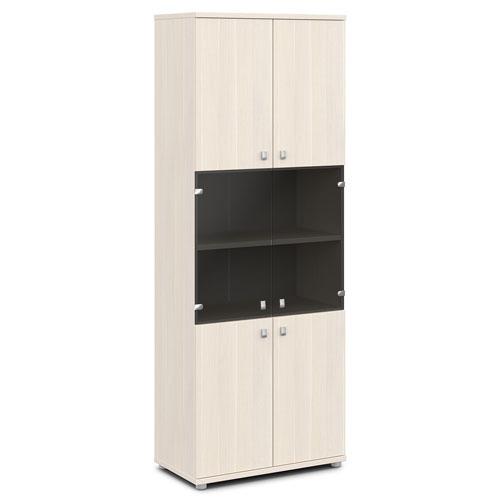 Шкаф для документов ЭКСПРО V-633 со стеклом
