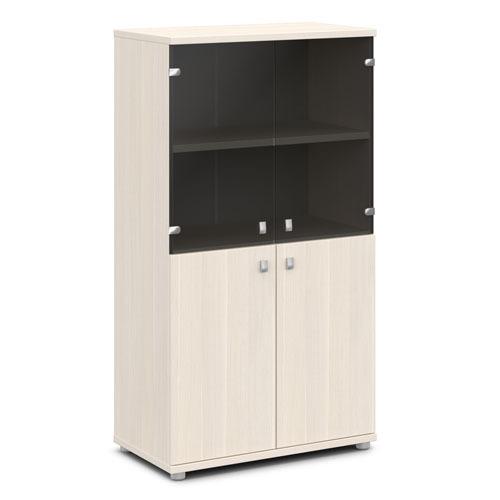 Шкаф для документов ЭКСПРО V-664 средний со стеклом