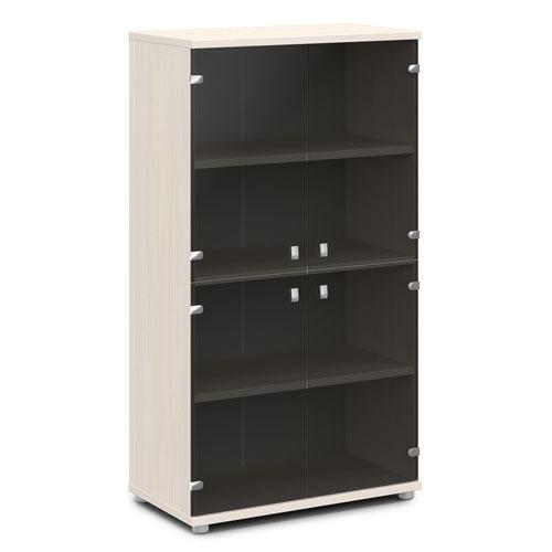 Шкаф для документов ЭКСПРО V-668 средний со стеклом
