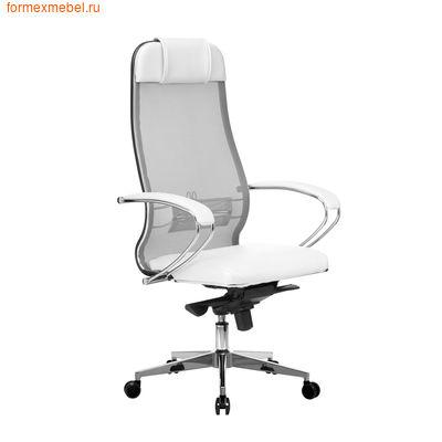 Кресло руководителя Samurai Comfort 1.01 белое  (фото)