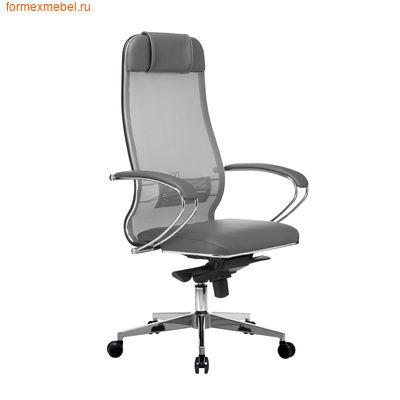 Кресло руководителя Samurai Comfort 1.01 серое (фото)