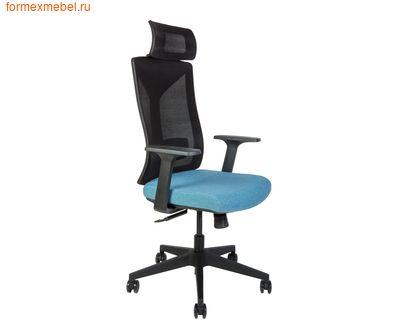 Компьютерное кресло NORDEN БОСТОН черный пластик, ткань синяя (фото)