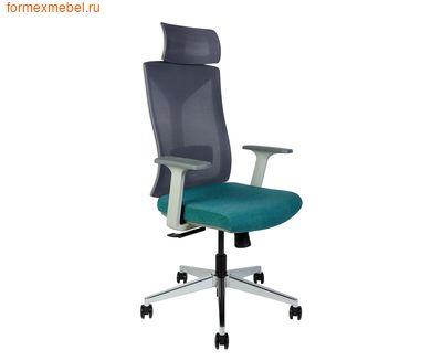 Компьютерное кресло NORDEN БОСТОН белый пластик, ткань цвета морской волны (фото)