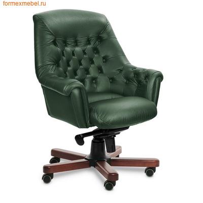 Кресло руководителя Zurich B натуральная кожа зеленая (фото)