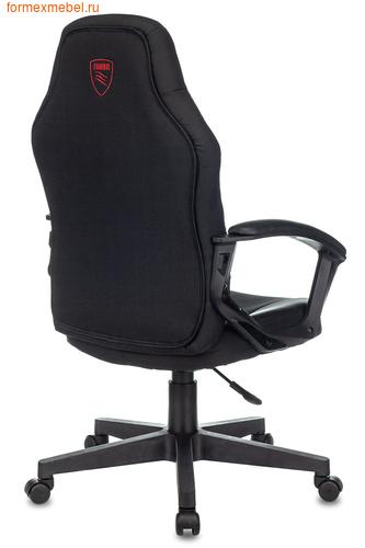 Компьютерное игровое кресло Бюрократ ZOMBIE 10 черная иск. кожа+ черная ткань (фото)