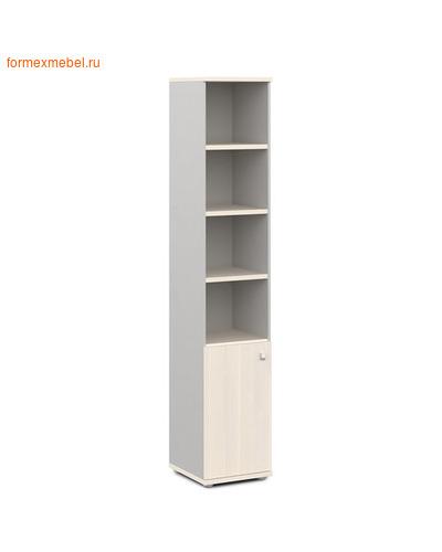 Шкаф для документов ЭКСПРО V-503лев./прав. узкий полуоткрытый дуб кобург/металлик, левый (фото)