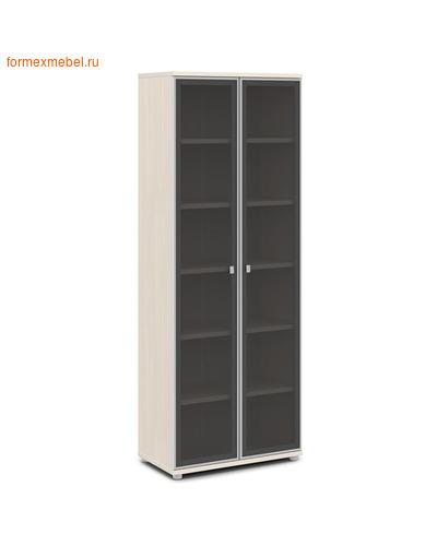Шкаф для документов ЭКСПРО V -611 высокий со стеклом Дуб Кобург (фото)