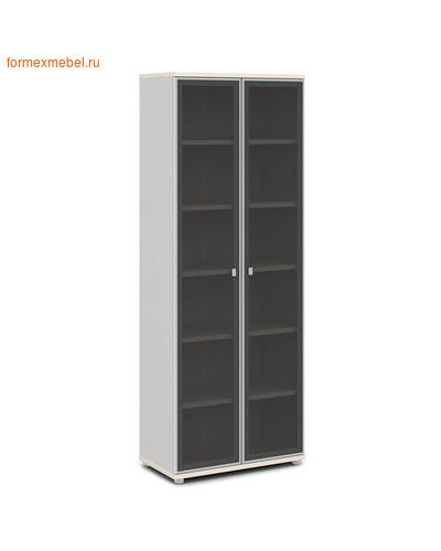 Шкаф для документов ЭКСПРО V -611 высокий со стеклом Дуб кобург/ металлик (фото)