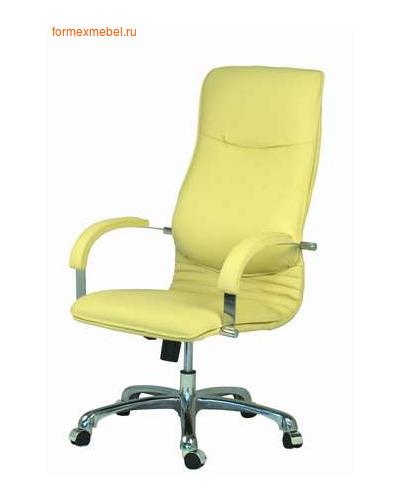 Кресло руководителя НОВА Хром, кожа натуральная КОНСУЛ (фото)