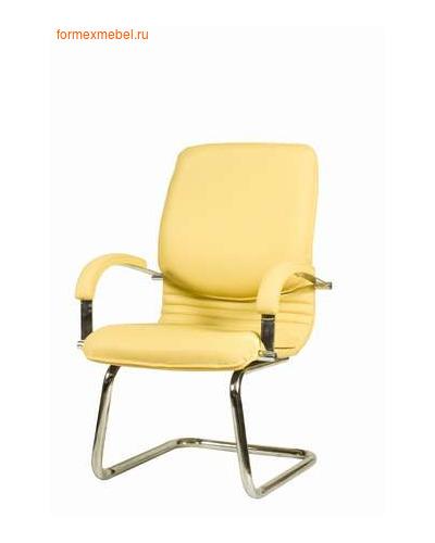 Кресло руководителя НОВА Хром конференц, кожа натуральная КОНСУЛ (фото)