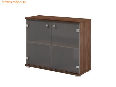 Шкаф для документов ЭКСПРО SPACE S-692 приставной со стеклом дуб  Шамони (фото)