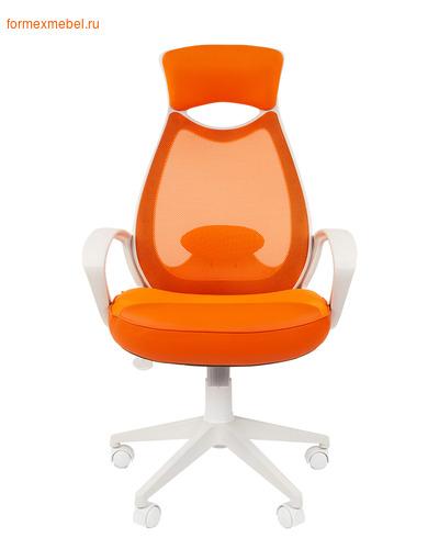 Компьютерное кресло Chairman Ch-840 White оранжевое (фото)