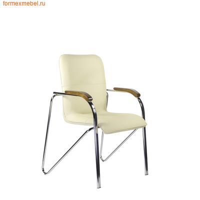 Стул офисный стул для посетителей САМБА Хром экокожа (фото)
