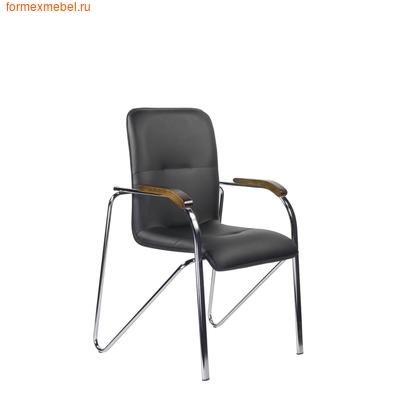 Стул офисный стул для посетителей САМБА Хром черная иск. кожа (фото)